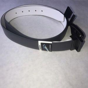 NIKE GOLF Reversable Leather Belt Sz 38 Gray/White